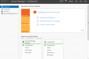 Server Manager 2012 Dashboard